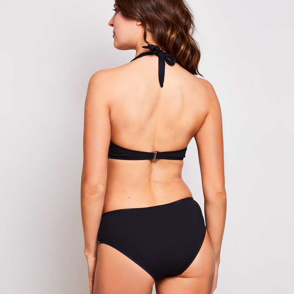 Mia bikini ribbed black swimwear, back | Contessa Volpi Summer 2019/2020 Collection