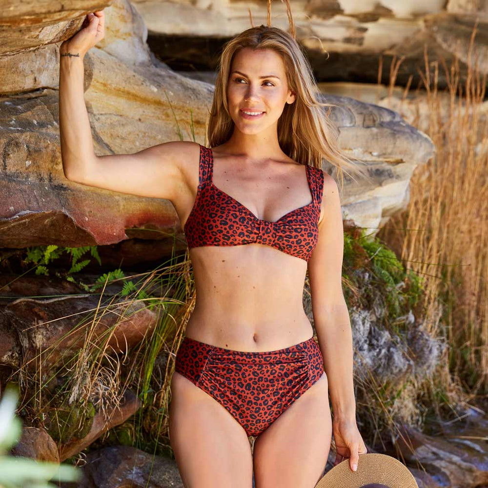 Aria bikini leopard print orange swimwear | Contessa Volpi Summer 2019/2020 Collection