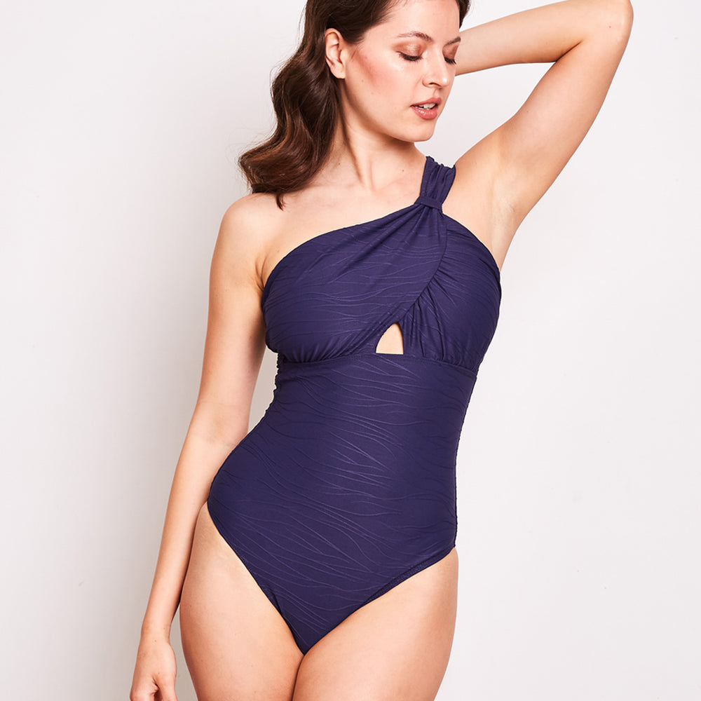 Angelica One Piece Jacquard Navy - 'They have an amazing fit'