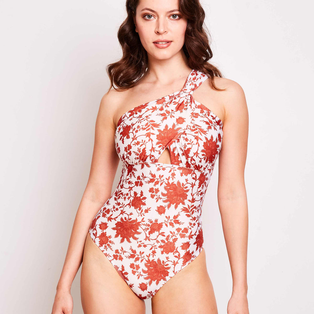 Angelica One Piece Paisley Floral - 'Beautiful swimmers with luxurious fabric'