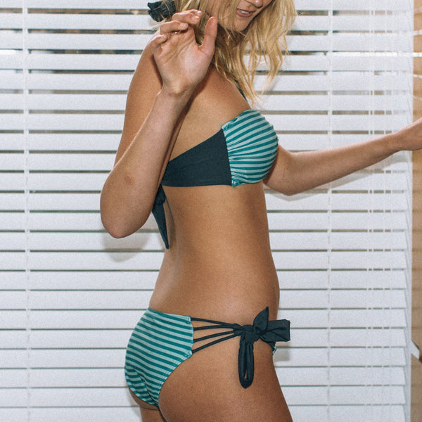 "Sea Green Bandeau Bikini - Style ""CELESTE"" - Swimwear by Contessa Volpi"