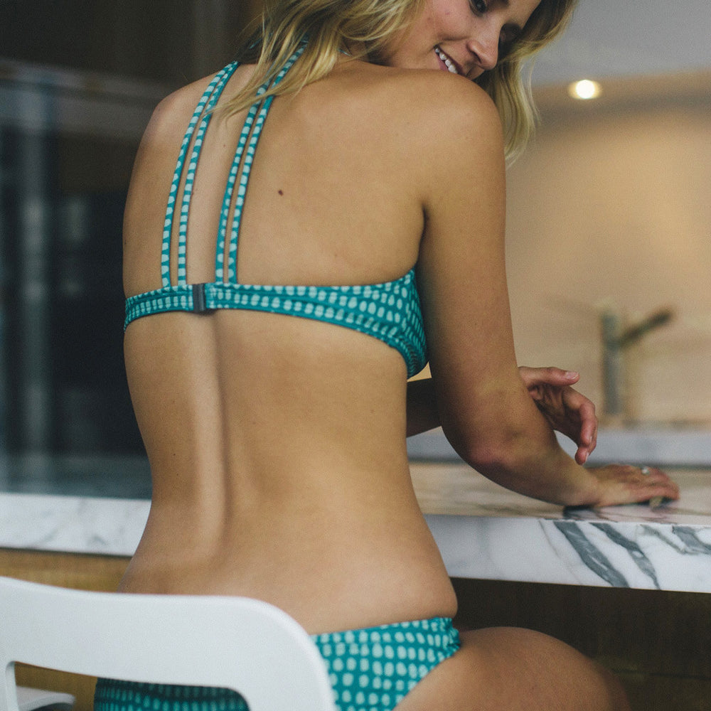 "Sea Green Bikini -  Style ""REBECCA"" - Swimwear by Contessa Volpi"