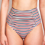 Erica High Waisted Bikini Bottom Stripes - 'One of the best quality swimwear I have!'