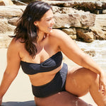 Erica-high-waisted-bikini-mini-rib-black-2-contessa-volpi-plus-size-swimwear
