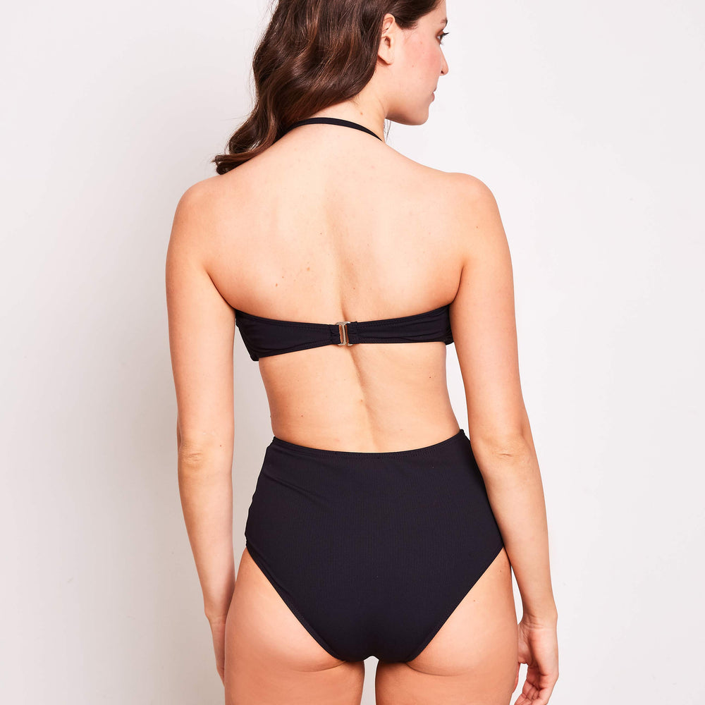 Erica-high-waisted-bikini-mini-rib-black-back-contessa-volpi-swimwear