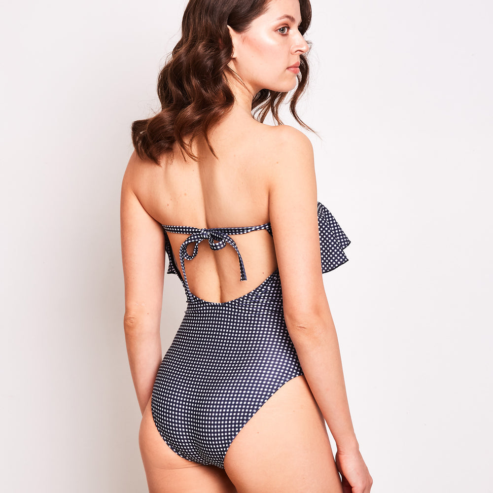 Olivia-one-piece-check-black-and-white-back-contessa-volpi-summer-swimwear-collection