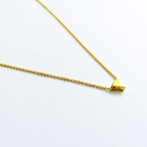 16k Gold Plated Mini Triangle Pendant Necklace
