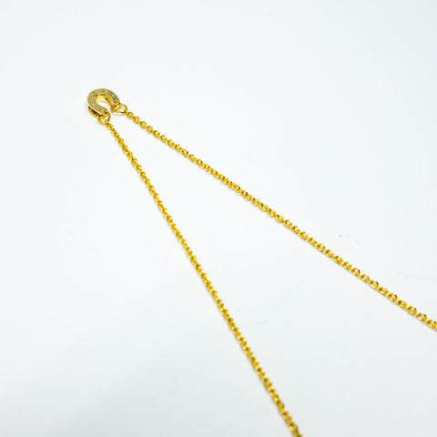 16k Gold Plated Horseshoe Cubic Zirconia Pendant Necklace