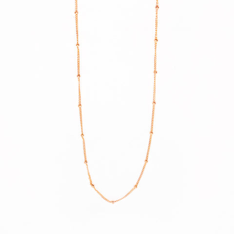 14k Rose Gold Filled Satellite Chain Necklace
