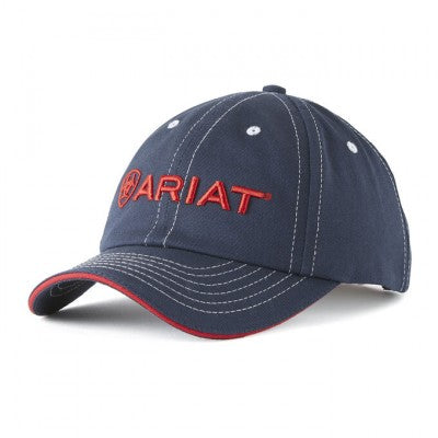 Ariat Baseball Cap - Navy with Raised Red Logo