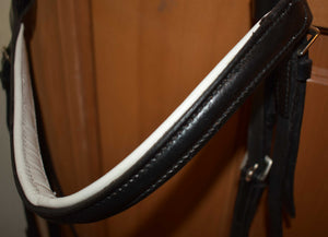 English Bridle with Removable Flash Noseband for Dressage