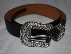 Ariat Cheyenne Western Belt with Bling Buckle Set Size 28