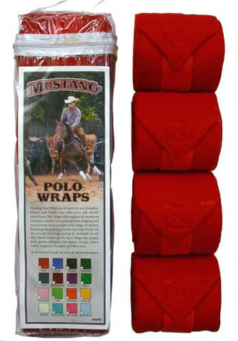 Fleece Polo Wraps - Mustang Brand