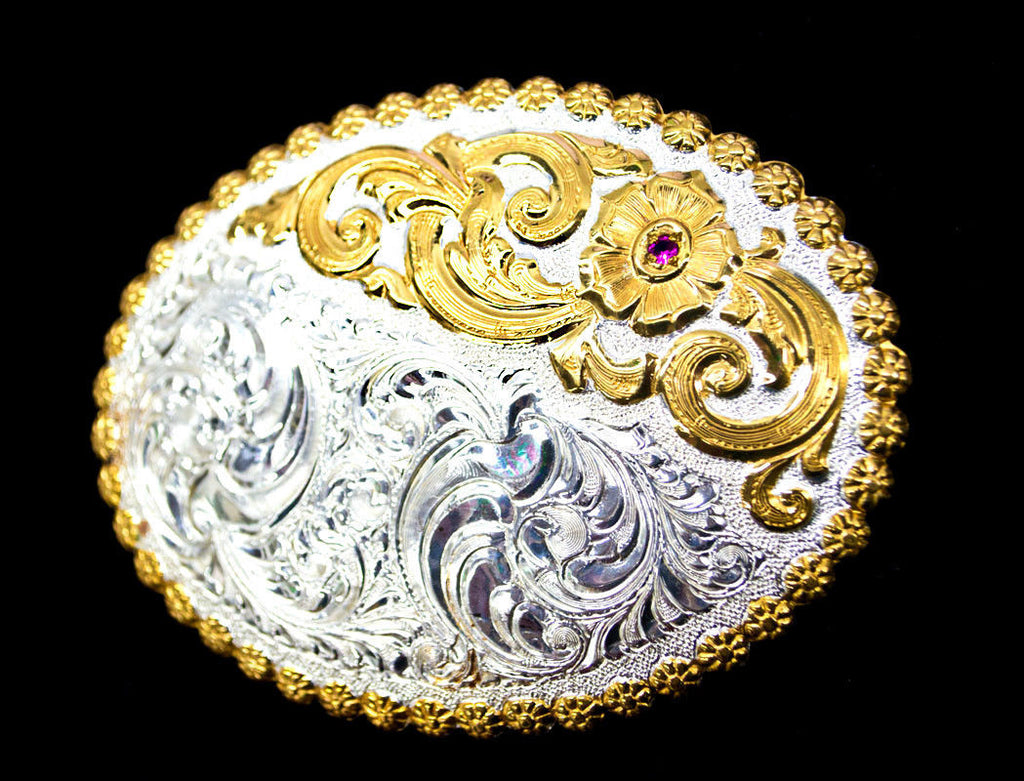 Crumrine Sterling Silver Belt Buckle