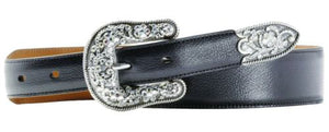 Ariat Cheyenne Western Belt with Bling Buckle Set Size 30
