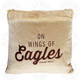 The BeLOVED Life WINGS OF EAGLES Plush Cushion Travel Pillow for Kids