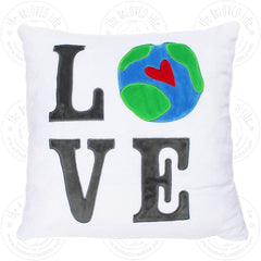 The BeLOVED Life LOVE Plush Cushion Travel Pillow for Kids