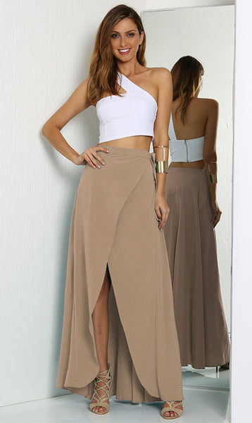 FOREVER MAXI SKIRT – TAUPE