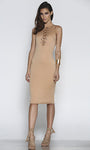 ALL TIED UP DRESS – TAN
