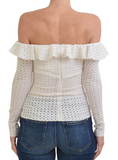 Gypsy Laces Top White