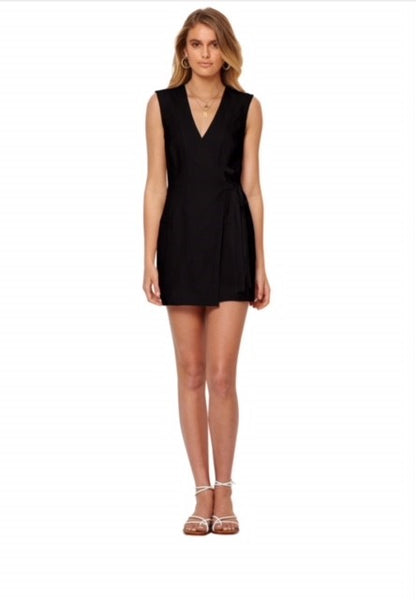 Lily Wrap Dress Black