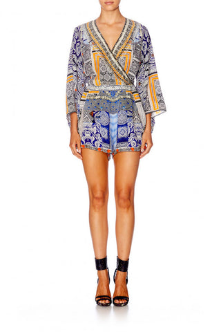 Dress Up Box Kimono Sleeve Playsuit