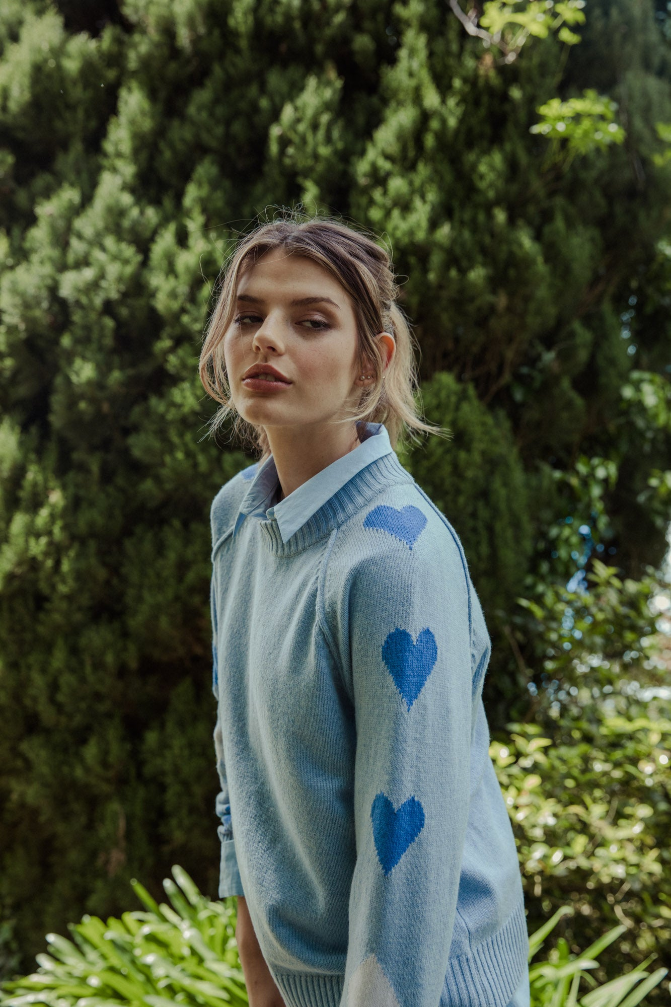 Heart On Your Sleeve Knit - ballard blue