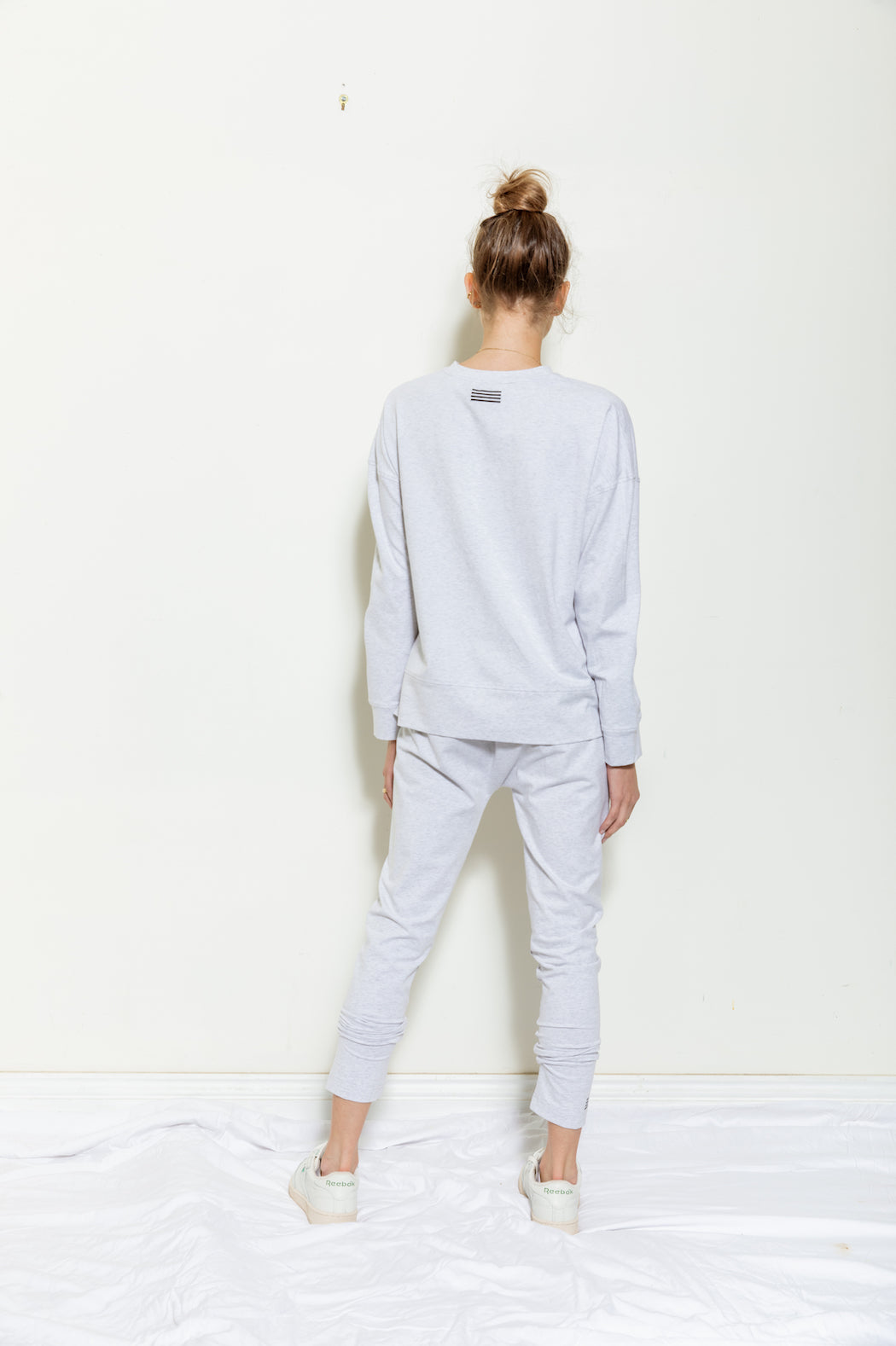 Lightweight Sweat - light grey marle