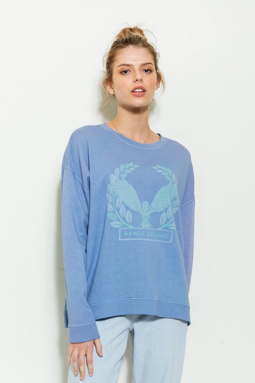 Falcon Crest Sweat - ocean / iris blue