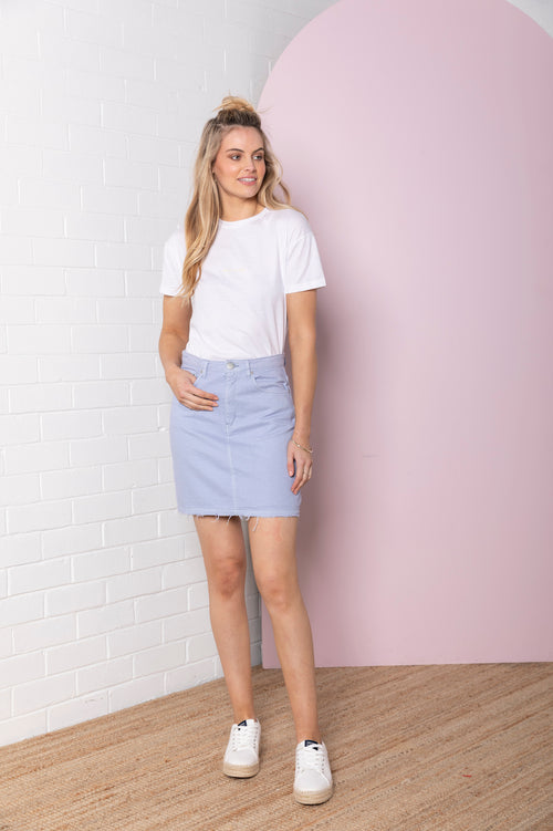Denim Skirt - iris blue