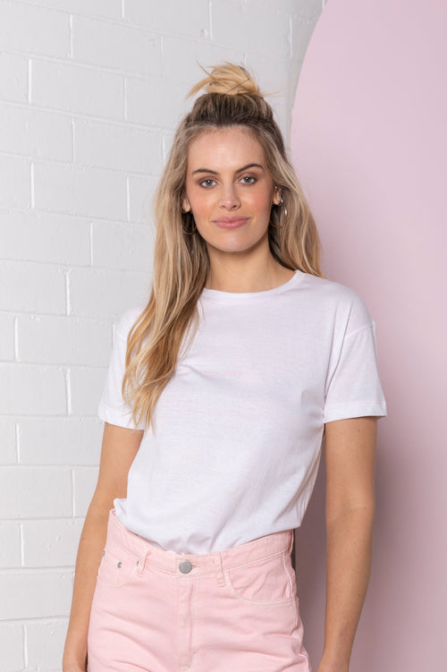 Mini Logo T-shirt - white with pale pink
