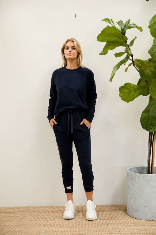 Eve Lightweight Sweat - navy