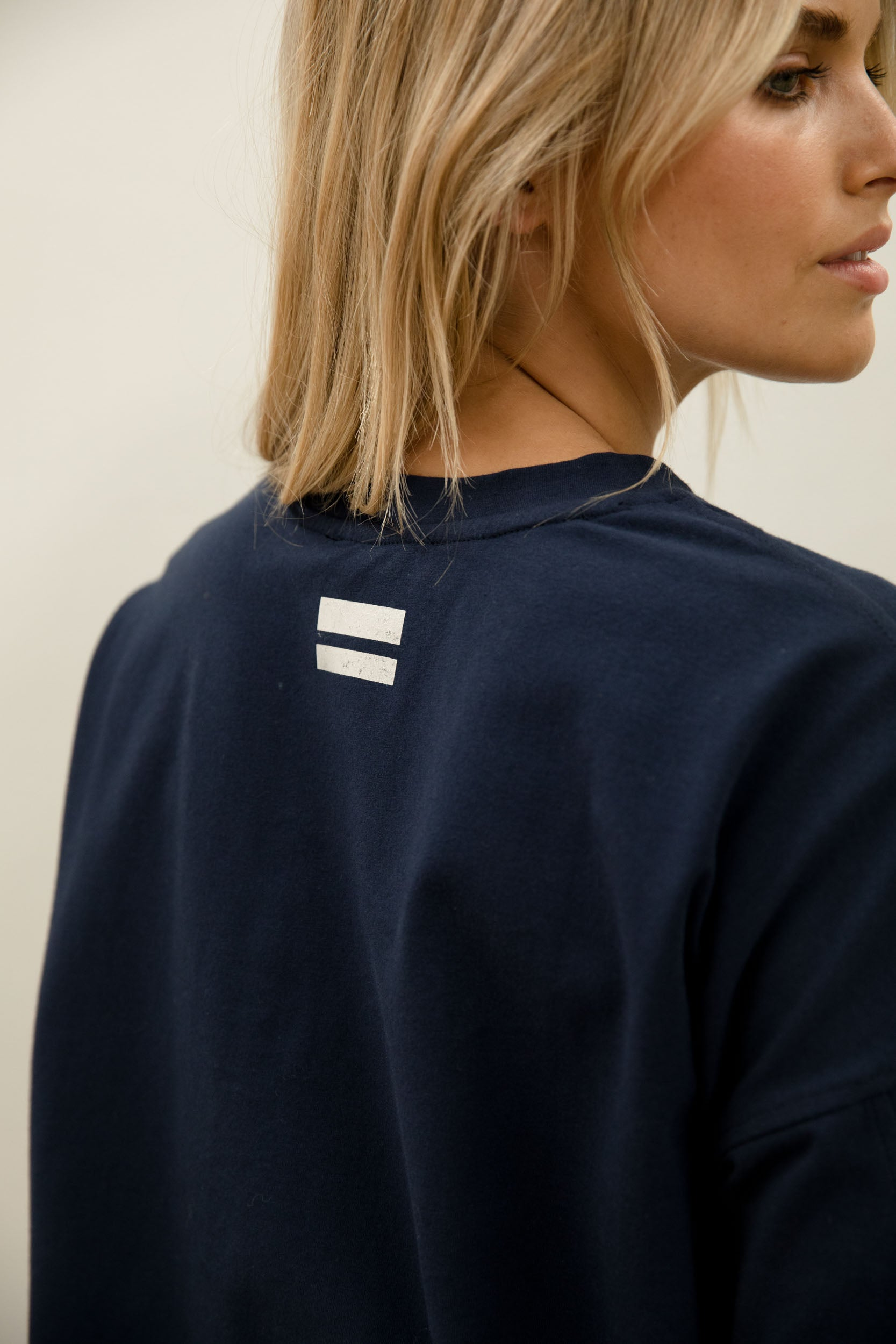 Eve Lightweight Sweat - navy - Bande Studio - Australian Knitwear