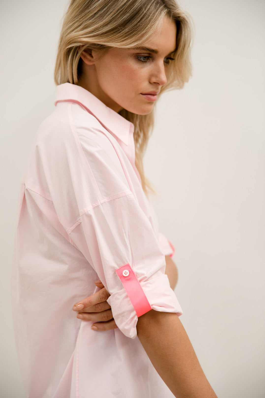 Classic Oversize Shirt - Pale Pink