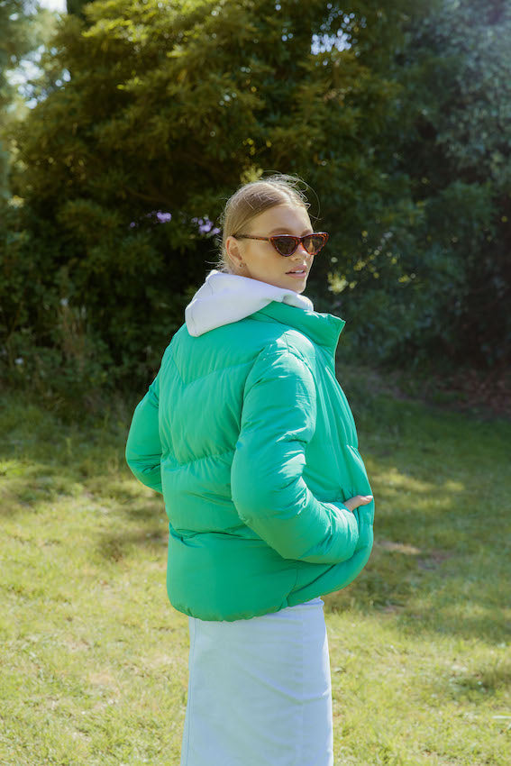 ***PRE ORDER ***  V Line Puffer Jacket - gorgeous green