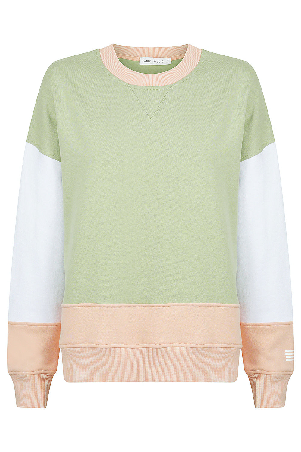 Colour Block Crew Sweat - Earthy Neutrals
