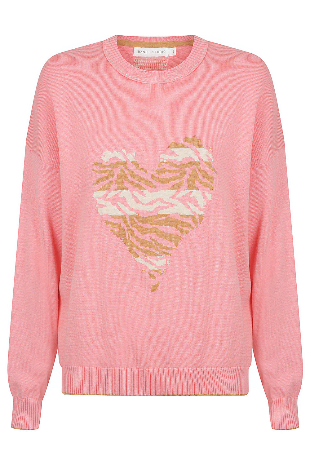 Miah Animal Heart Knit - rose pink