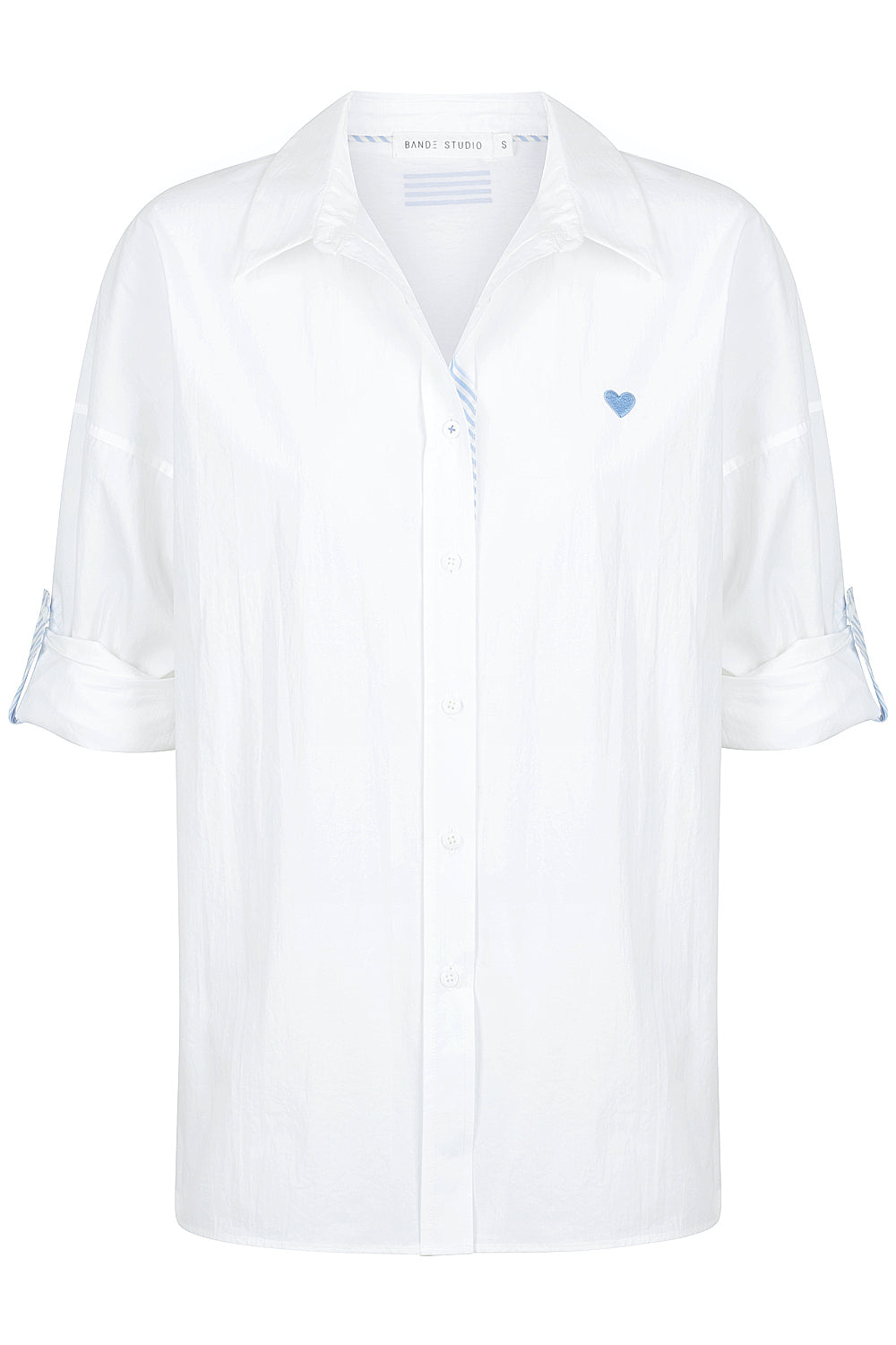 Iris Classic Oversize Shirt - white / blue stripes