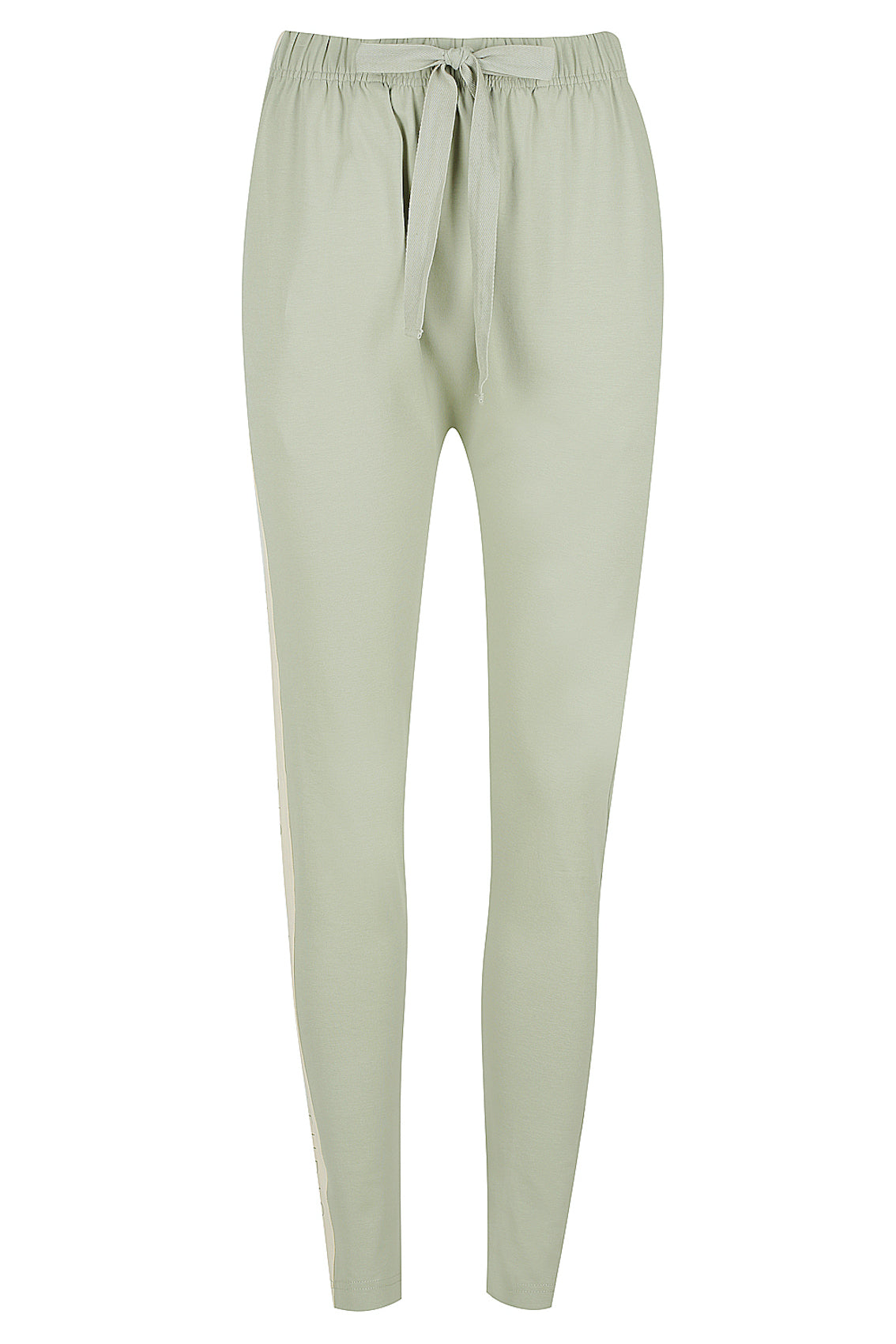 Colour Block Slouch Pant - sage / stone