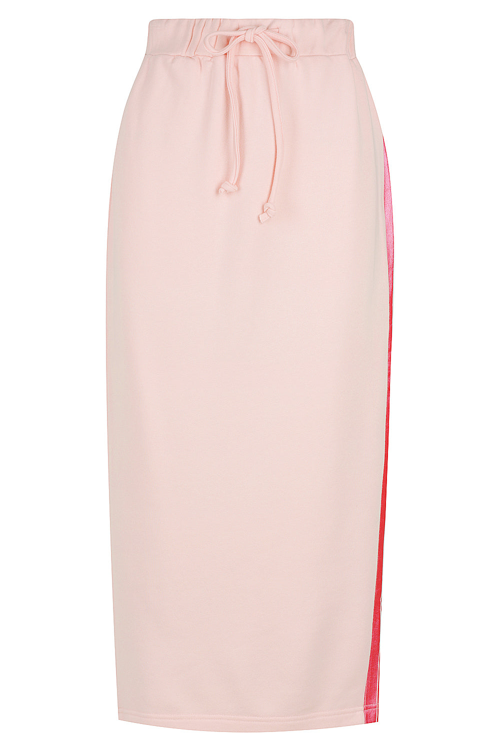 Foil Pencil Skirt - pale pink