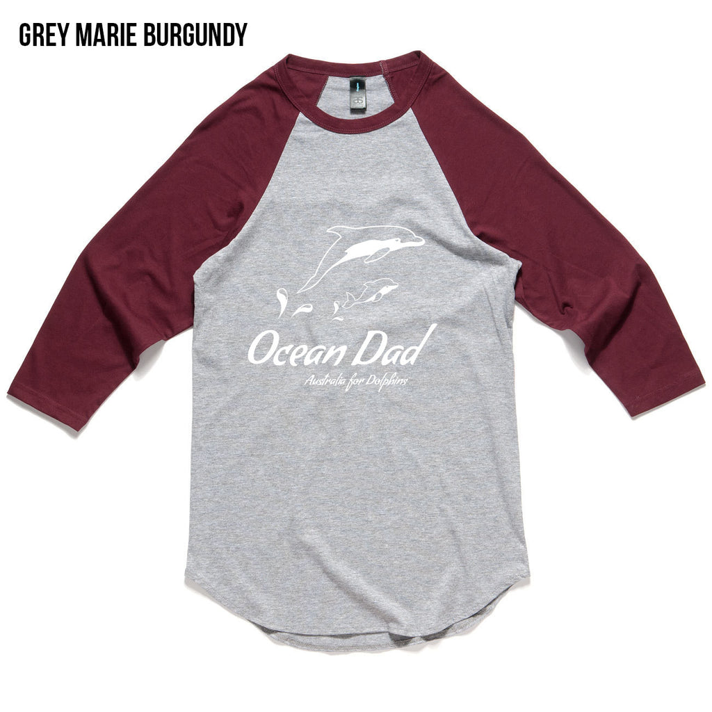 Unisex Raglan Ocean Dad Shirt for Father's Day