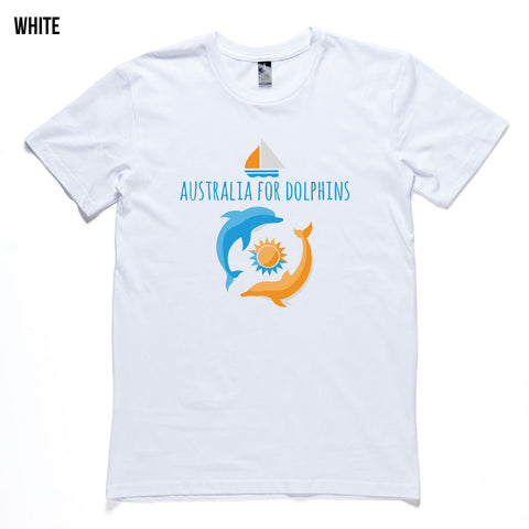 Dolphins swimming wild men's T-shirt Australia for Dolphins - colours available