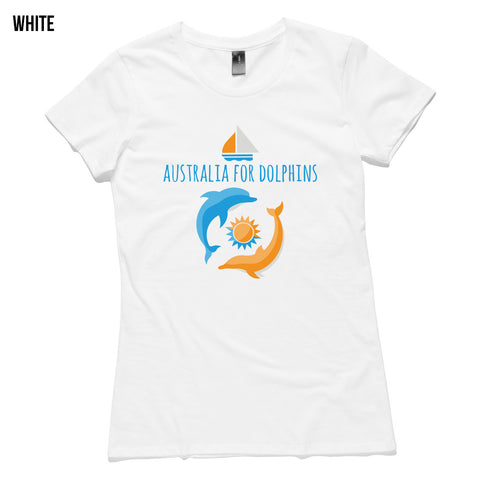 Dolphins swimming wild women's T-shirt - colours available
