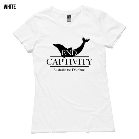 End Dolphin Captivity women's T-shirt - Australia for Dolphins