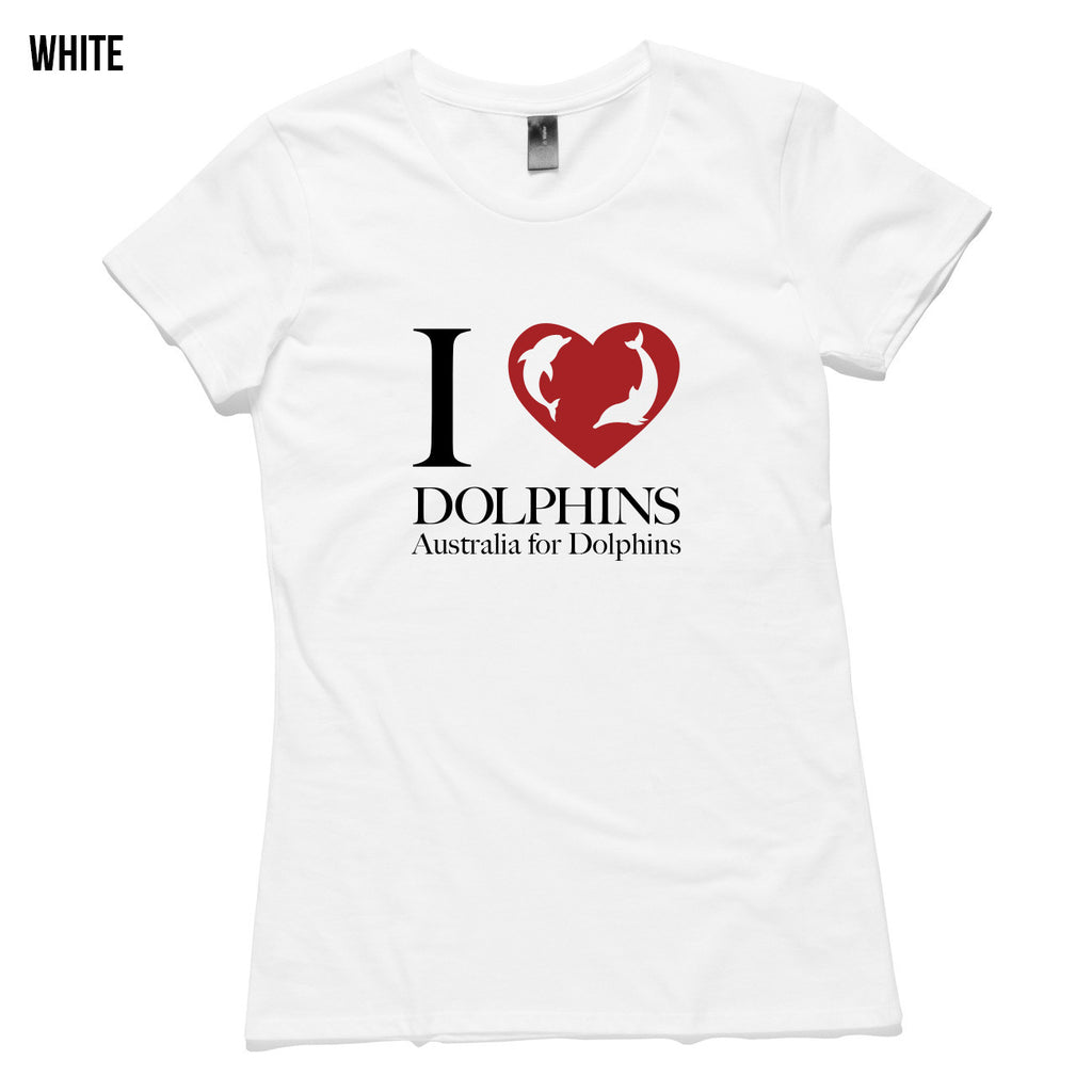 I love dolphins - Women's T-shirt