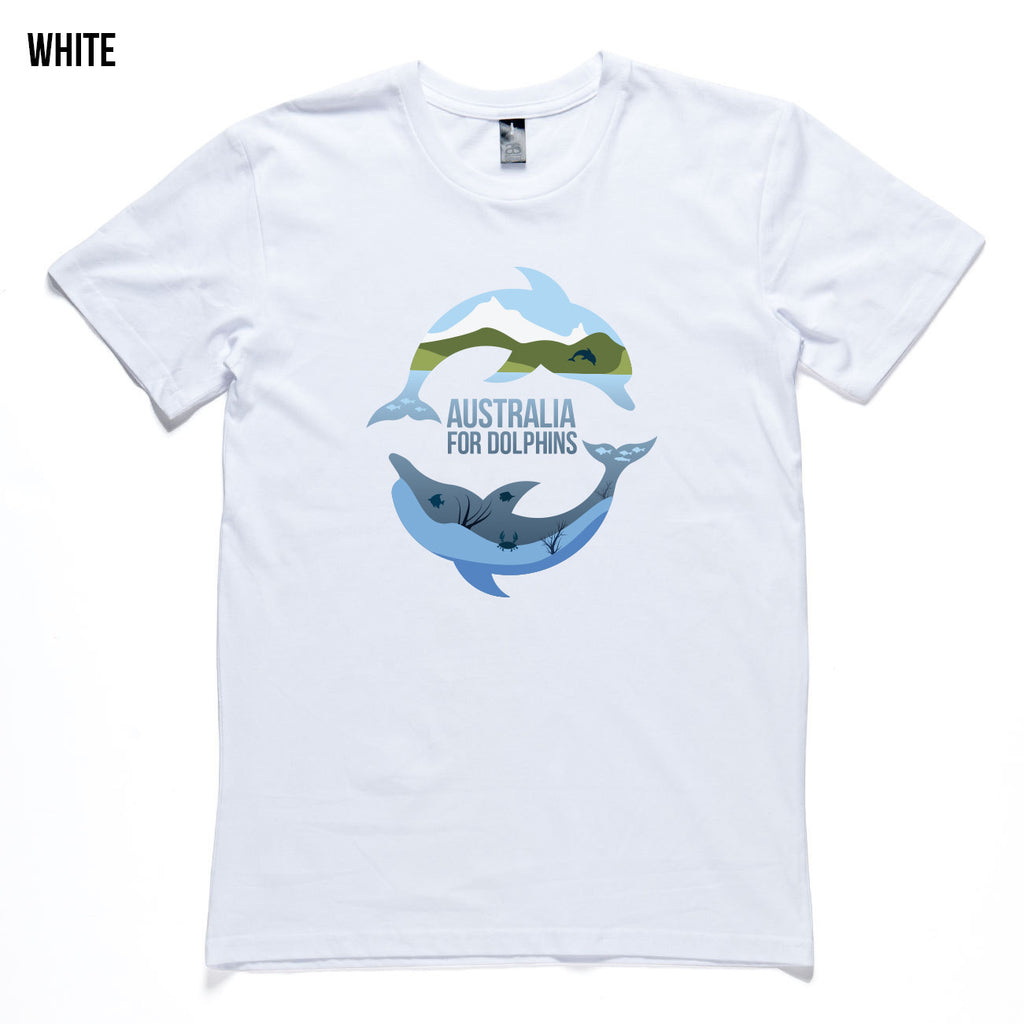 Dolphins Jumping & Swimming Men's T-shirt Colors Available
