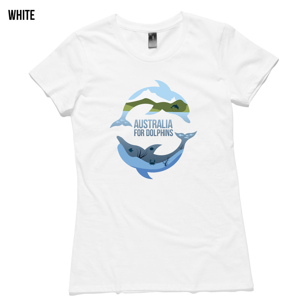 Dolphins jumping & swimming women's T-shirt - colours available