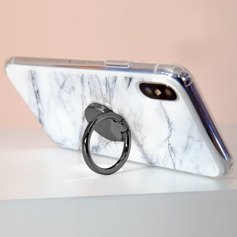 Phone Ring Gun Metal Designer Case Side View