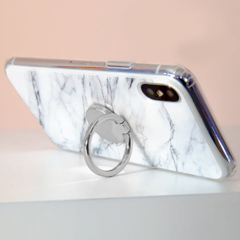 Phone Ring Silver Designer Case Side View