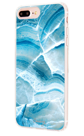 Aqua Marble iPhone 7/6s/6 Plus Designer Case Side View